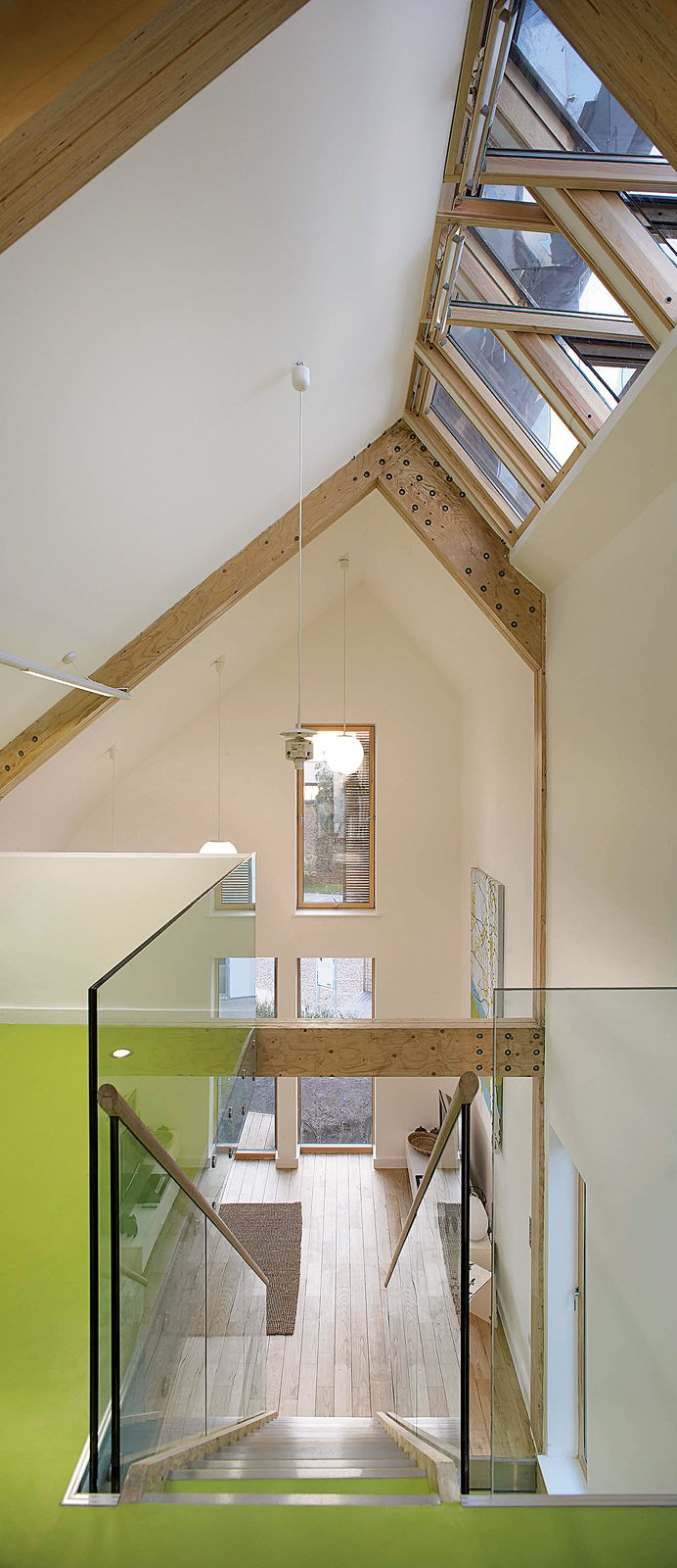 The Lighthouse lives up to its name, filled with natural daylight from floor to double-height ceiling. Light wood, white walls, and plenty of glass help keep the place bright.  Photo 3 of 3 in London Cooling