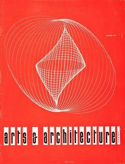 Arts & Archtitecture magazine cover by John Follis and James Reed, September 1953. Collection of Los Angeles Modern Auctions, reprinted courtesy of David Travers Associates/LACMA.