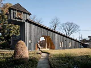 Terunobu Fujimori's Charred Cedar House, completed in 2007. As the name implies, the entire home is clad in charred cedar boards, which have been treated with an ancient Japanese technique that seals the wood against rain and rot.