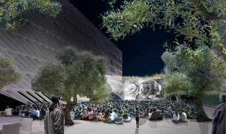 The plaza will serve as a venue for the Broad's outdoor programming, including films, performances, receptions, and educational events. Image courtesy of Diller Scofidio + Renfro.