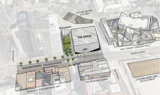 This birds-eye plan shows the plaza and the museum in their context. Image courtesy of Diller Scofidio + Renfro.
