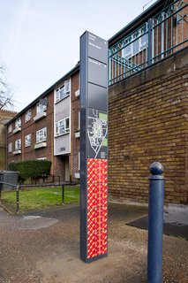 Projectile Motion: Hat-Trick Design's Stockwell Project Bring Local Art to Wayfinding - Photo 5 of 7 -