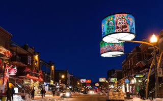 An LED Light Display Takes Over an Avenue in Quebec City - Photo 5 of 6 -