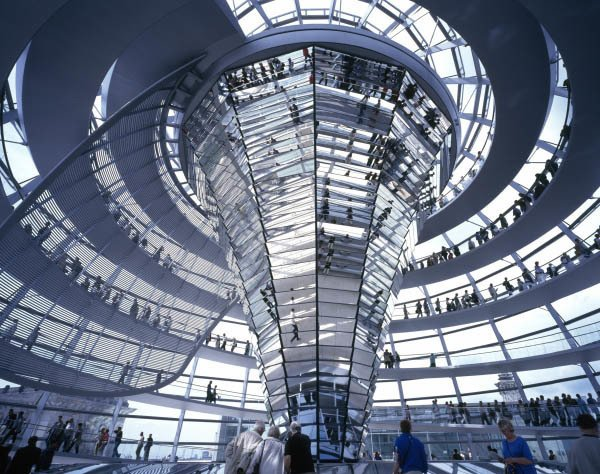 New Exhibition: The Brits Who Built the Modern World - Photo 3 of 6 - The Reichstag by Norman Foster. Image copyright Nigel Young, courtesy of the Royal Institute of British Architects.