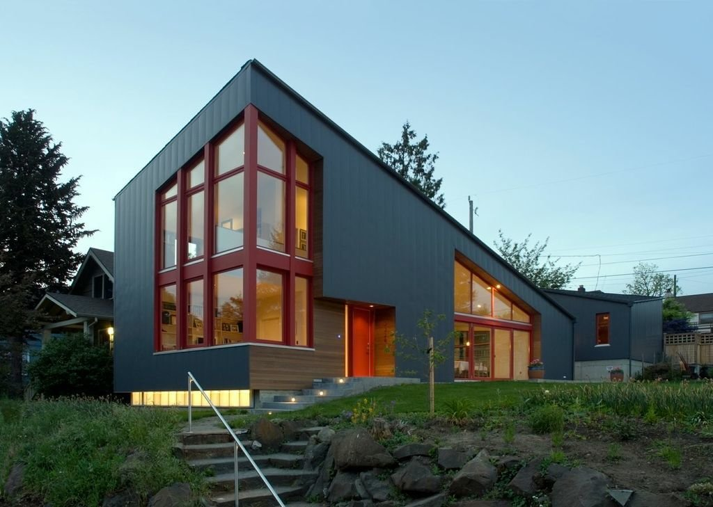 Angular multi generational home in washington dwell for Multi generational home builders