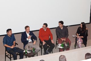 (From left to right): Architect Alving Huang; Anders Tylman-Mikiewicz, General Manager, Volvo Monitoring & Concept Center Los Angeles; Curator Greg Goldin; auto writer Paul Meyers; and Dwell's Los Angeles editor Erika Heet led a lively and thought-provoking conversation at the Palm Springs Art Museum on the Future of Mobility.
