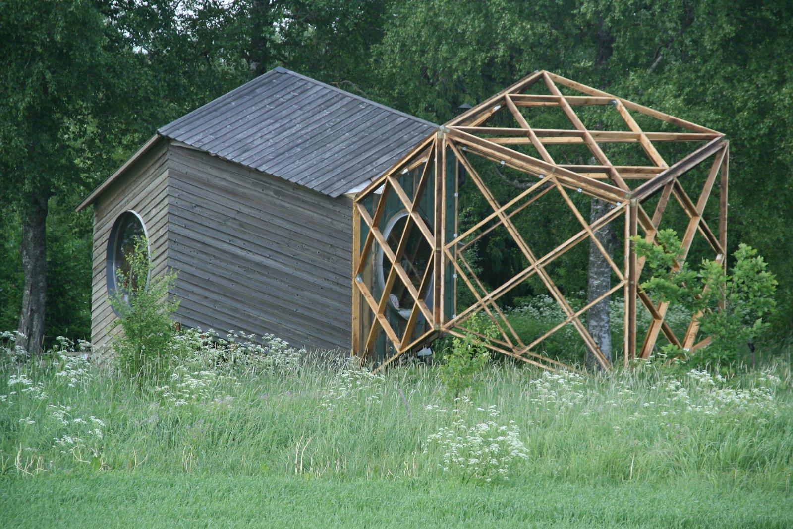 Construction photo of the NOA cabin.  Photo 9 of 10 in Estonian Designer's Tiny Geometric Cabin