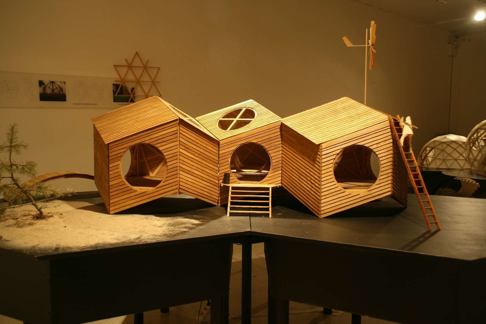 One of the original models for the NOA cabin.  Photo 10 of 10 in Estonian Designer's Tiny Geometric Cabin