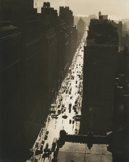 Berenice Abbott. Seventh Avenue, Looking South from 35th Street, December 5, 1935. Gelatin silver print; printed c.1935.