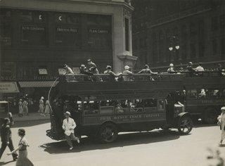 Berenice Abbott. Fifth Avenue Coach Company, New York, 1932 Gelatin silver print; printed c.1932.