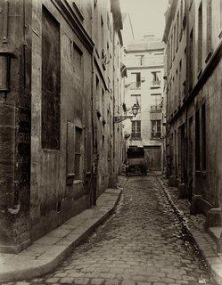 Charles Marville. Cul-de-sac d'Amboise de la rue du Haut-Pave, 1865-1869. Albumen print from a wet-collodion negative.