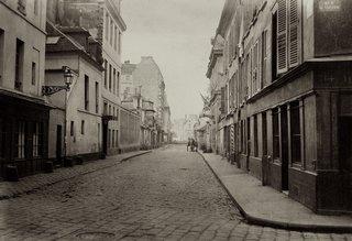 Charles Marville. Rue de Pontoise de la rue St. Victor, 1865-1869. Albumen print from a wet-collodion negative.