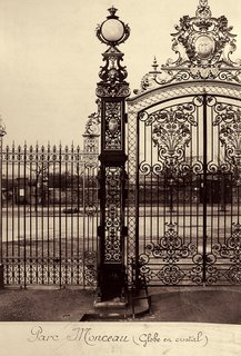 Charles Marville. Parc Monceau (Globe en cristal), 1865-69. Albumen print from a wet-collodion negative; printed c.1865-69.