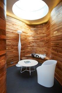 Gartnavel interior. Architect: Rem Koolhaas, OMA. © Nick Turner.