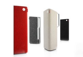 With consumers moving away from traditional hi-fi systems toward a more mobile approach to music, Libratone worked with Designit on a line of eye-catching portable speakers. The Libratone Live speaker, pictured here, featuers a chrome handle and a removable wool cover (available in several colors). It has a built-in battery an audio jack, and can also sync up with playlists via AirPlay and DNLA, or directly from an iPhone, iPad, Android device, or a laptop computer. Image courtesy of Designit.
