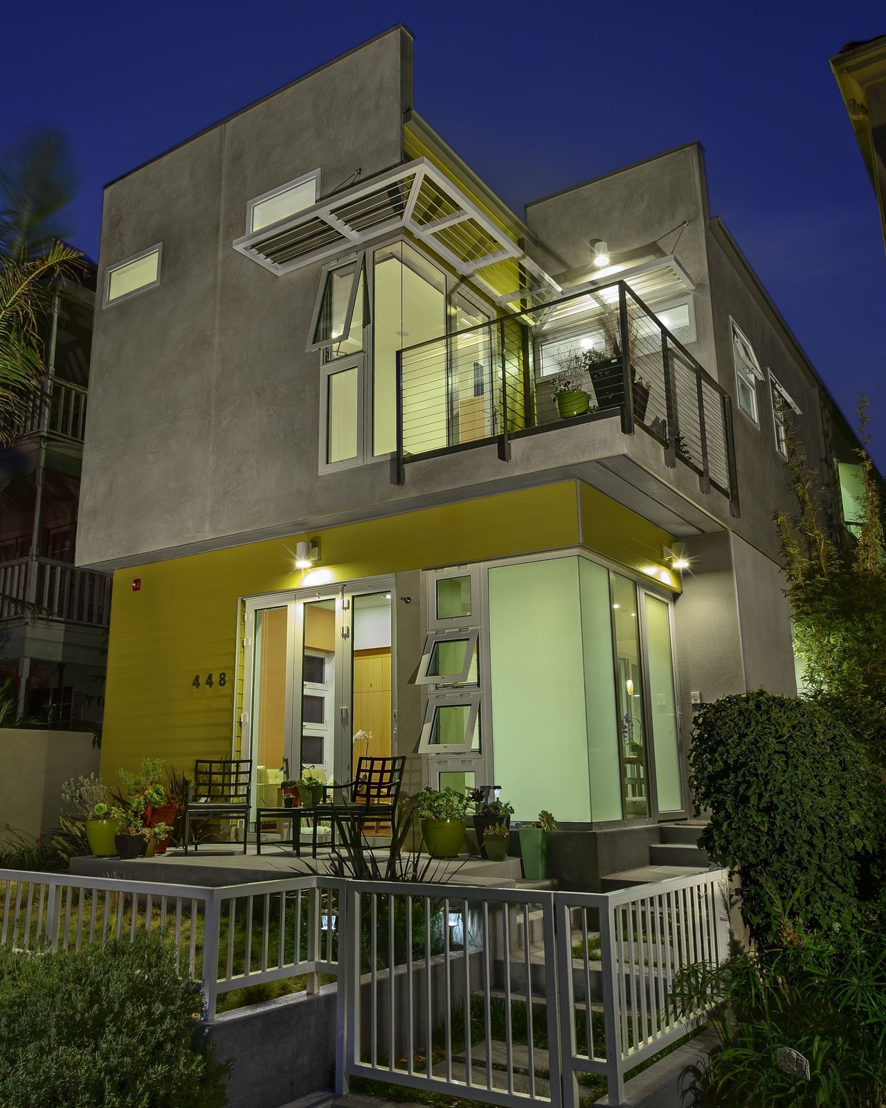 "A view of the house from the front. Photo by Ken Pagliaro Photography.  Photo 3 of 8 in A Sustainable ""Case Study"" House in California"