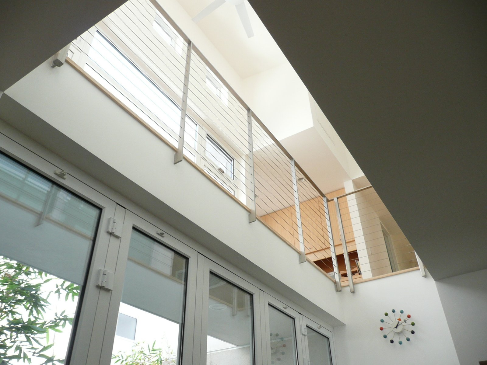"A view of the second story from the ground floor. Photo by Ken Pagliaro Photography.  Photo 7 of 8 in A Sustainable ""Case Study"" House in California"