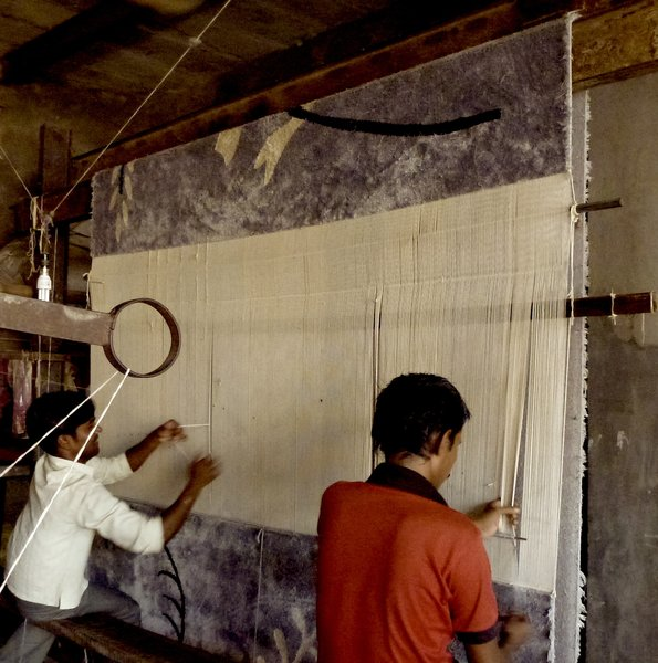 De Gunzburg has been working with teams of master craftsman in India and Nepal to create rugs and modern tapestries that are hand woven with 100-percent silk thread. The prints are a mix of her own designs and paintings or drawings by Franch artists, like Francis Picabia, who have long been close to her and her family.