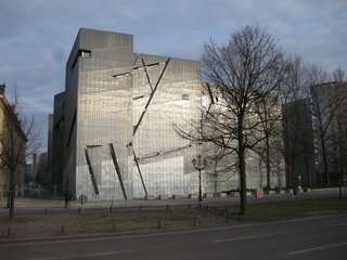 4. Jewish Museum Berlin (Berlin, Germany): Designed by Daniel Libeskind<br><br>The master architect crafted a stunning, emotive statement about Jewish life and loss in Berlin. Within the reinforced concrete alleys, hallways and gardens of this structure stand evocative structures (the abstracted Star of David, the grid of pillars in the Garden of Exile, the 66-foot-tall Holocaust Void) that translate experience into space. Photo by Goodnight London.