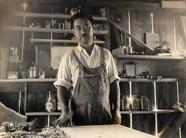 George Nakashima in his workshop.