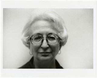 The Dorothy and Herbert Vogel Modern Art Collection - Photo 3 of 11 - Lucio Pozzi, Portrait of Dorothy Vogel, 2001, black-and-white photograph. Bowdoin College Museum of Art, Brunswick, Maine, Dorothy and Herbert Vogel Collection Vogel Collection. © Pozzi 2001