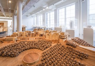 Richard Meier Model Museum Opens in New Jersey - Photo 1 of 7 - One of the large-scale studies for the Getty Center in Los Angeles. Meier's most ambitious project, the Getty Center took 15 years to complete. Photo courtesy of Steven Sze, Richard Meier & Partners.