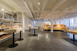 The exhibition space and archive occupies 15,000 square feet. Photo courtesy of Steven Sze, Richard Meier & Partners.