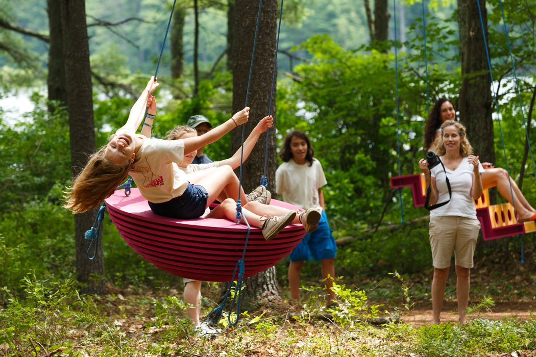 Swingtones Project  Campers at Beam Summer Camp in Strafford, New Hampshire, built the Swingtones swings during a three-and-a-half week period last summer.  Image credit: Juan Ude  Photo 1 of 7 in Swingtones: Musical Swings Built by Kids