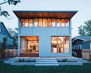 This airy addition on the back of an historic house in Boise is a model of sensitive renovation, seamlessly melding new and old.