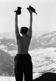 Charlotte Perriand in the mountains of Savoie, France, circa 1930. Copyright Archives Charlotte Perriand.