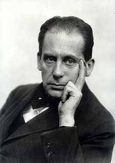 This photograph shows a young Walter Gropius in 1919, the year that Gropius became the successor to the master of the Grand-Ducal Saxon School of Arts and Crafts, the school which, under Gropius' guidance, became the Staatliches Bauhaus.
