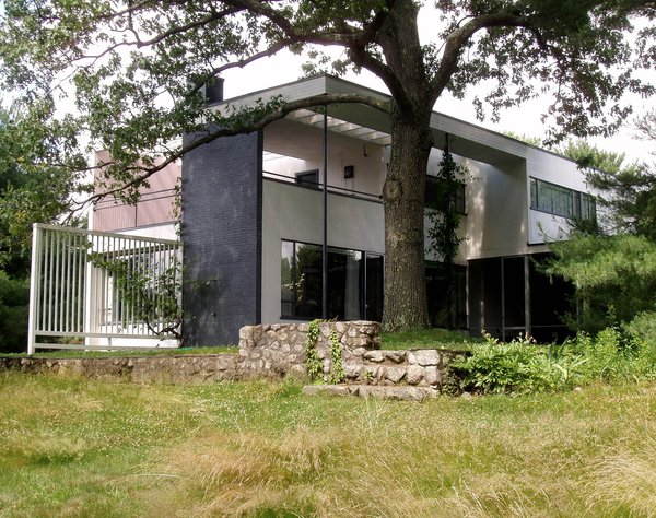 The now-landmarked Gropius House in Lincoln, Massachusetts, was designed by the architect and his wife Ise when he accepted a teaching position at Harvard in 1937. (Check out some great interior shots here.)