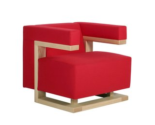 Walter Gropius designed the F-51 armchair for the director's room at the Bauhaus in Weimar. Filled with polyurethane foam, the armchair fabric or leather coated armchair is supported by an ash or maple frame.