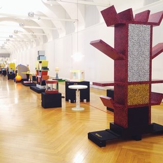 The Memphis design retrospective exhibition at Corso Magenta.