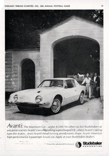Studebaker Avanti (1963)<br><br>Italian for forward, the Avanti was created by Loewy and a team of designers during a 40-day crash course at the behest of Studebaker President Sherwood Egbert. Sporting a sleek look during a period of automotive overindulgence, the Avanti also boasted numerous safety features ahead of its time.<br><br>Photo Credit: Alden Jewell, Creative Commons