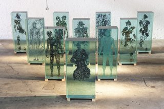 Glass Sculptures Use Magazines as Art - Photo 1 of 6 -
