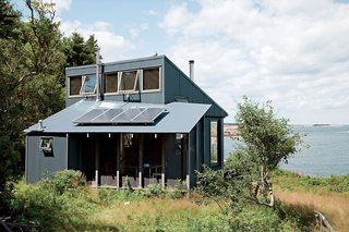 Solar panels power this 550-square-foot Maine cottage designed by Alex Scott Porter.