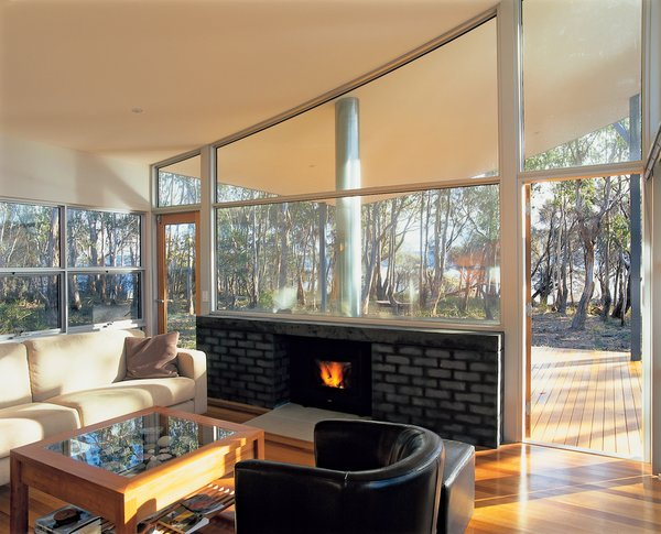 High ceilings and generous expanses of glass more than compensate for the lack of a second floor.
