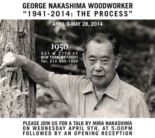 More than 70 years of furniture making by two generations of Nakashima's gets the spotlight at the gallery show.
