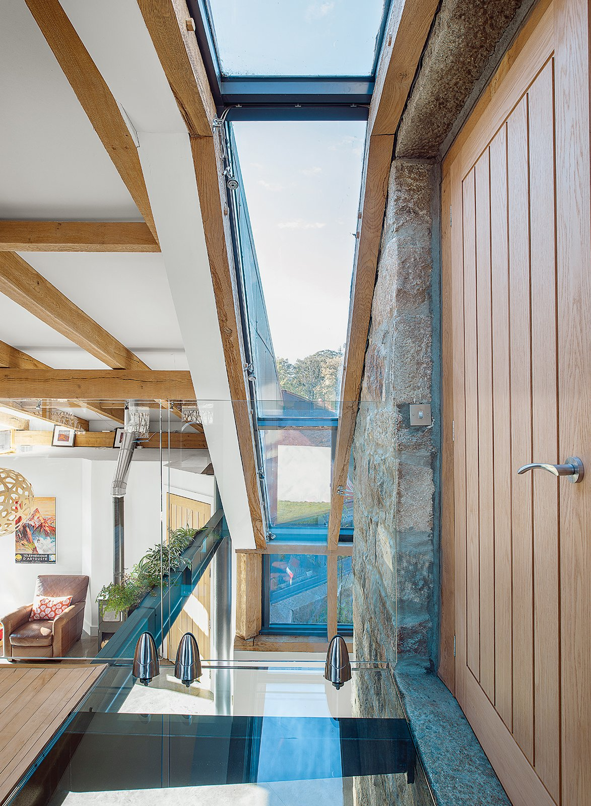 Windows and Skylight Window Type McAvoy worked with builder Stephen Campbell on structural elements such as the glass floor and walls.  Photo 4 of 11 in This Farmhouse is a Cor-Ten Steel-Clad Dream