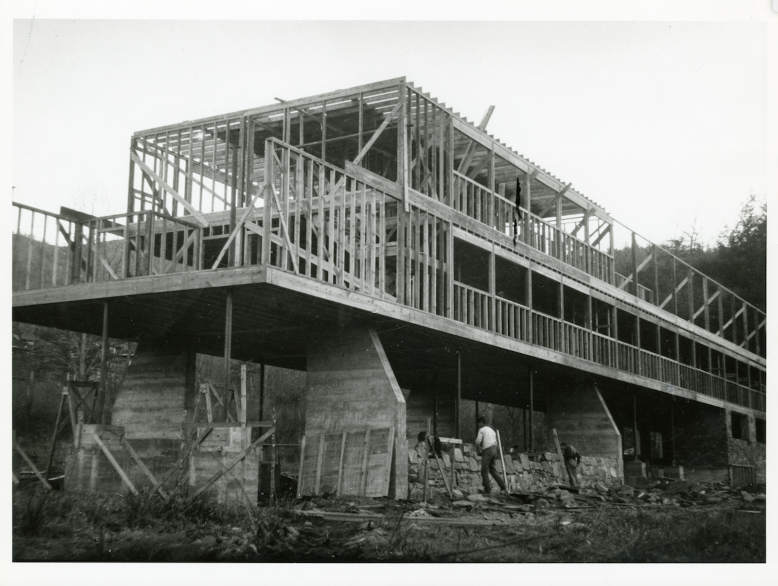 Kocher designed the Studies Building and other campus structures so that they could be built by faculty and students. These projects made use of new construction methods and materials without sacrificing modernist simplicity.  Photo 3 of 8 in The Forgotten History of America's Most Creative College