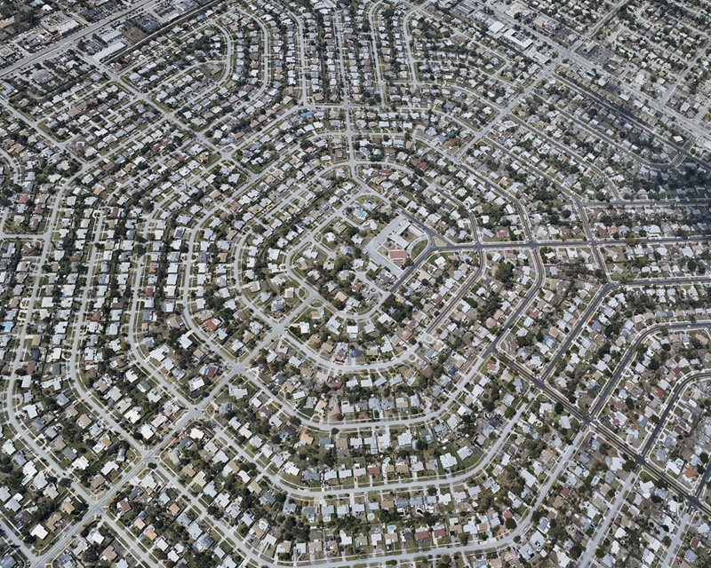Suburban Sprawl Photographed from Above