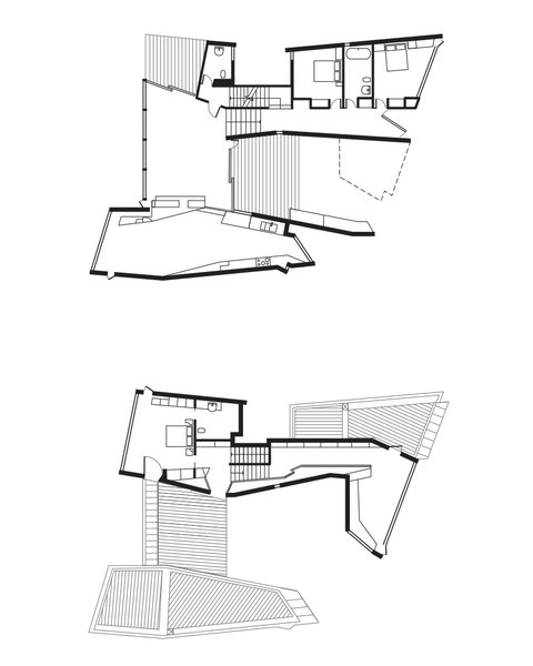 Fairhaven Beach House Floor Plan  A Deck  B Half Bathroom  C Guest Bedroom  D Entrance  E Living Room  F Deck  G Dining Room  H Kitchen  I Master Bedroom  J Master Bathroom  Photo 9 of 9 in A Eucalyptus-Lined Oceanfront Home in Australia