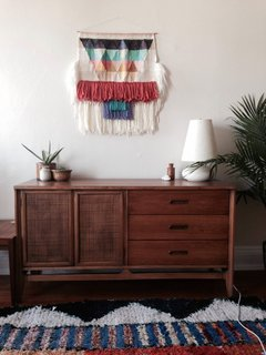 Textured, Woolen Tapestries Made of New and Vintage Yarn - Photo 5 of 6 -