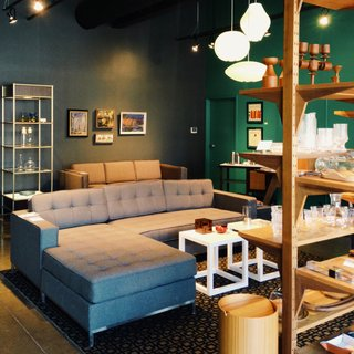 Detroit design shop Hugh sells vintage and vintage-inspired contemporary furniture, housewares, and grooming items.