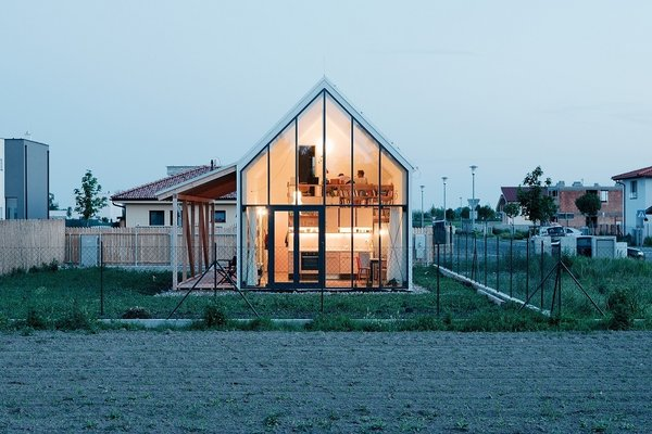 Small Country Home with Dramatic See-Through Wall