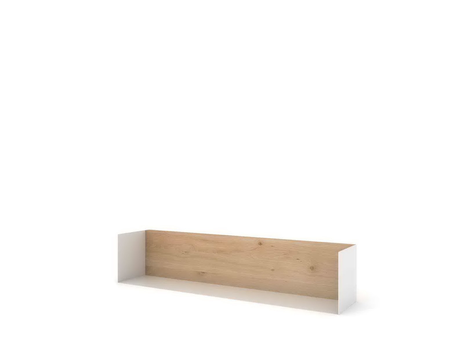 This wall shelf, made of powder-coated steel and oak, is available in different sizes and colors, all of which give an almost invisible, shadow-box effect when mounted.  Photo 5 of 5 in Simple Belgian Furniture with a Sustainable Bent