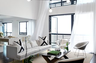 "Machnik's final design on the season finale, airing Sunday, May 25, 2014 on NBC, is a beach house with a black exterior and a white interior. While controversial to the other designers, the result is very European and modern. ""I don't like fluffy decorations,"" says Machnik. Photo courtesy of Lukas Machnik."