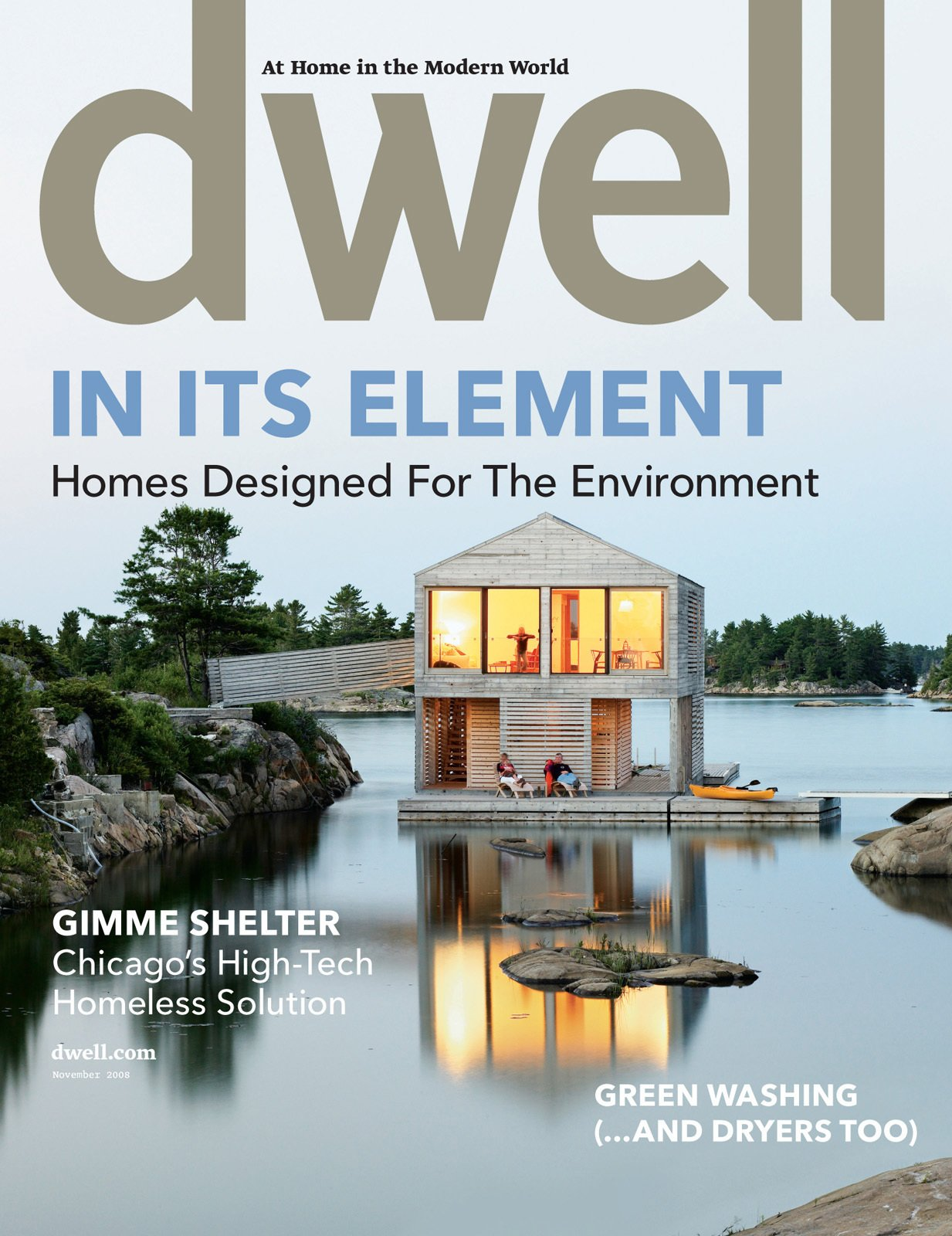 Dwell November 2008, Vol. 09 Issue 01: In Its Element by Dwell