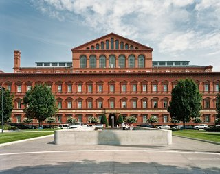 Commissioned to be the headquarters of the US Pension Bureau and now home to the National Building Museum architect Montgomery C. Meigs' brick building  was completed in 1887.